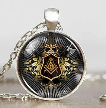 Steampunk Masonic Free Mason Freemason Illuminati Pendant Necklace