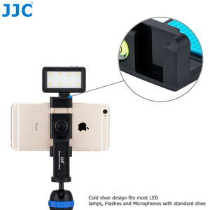 Image 5 - JJC Móvil Soporte 56 105mm Ajustable Clip con Zapata Teléfonos Titular Autofoto Palillo para el iphone/HUAWEI/MI/Samsung