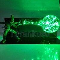 Dragon Ball Z Action Figure Cell Kamehameha DIY LED Light Dragon Ball Super Dramatic Showcase Super Saiyan Cell Model DIY188