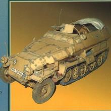 Вторая мировая война Sd. Kfz.251 Боевая машина 3D бумажная модель Diy