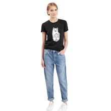Tide brand printing black and white cat gray 2016 Tide brand new cotton short-sleeved t-shirt women