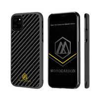 Étui pour iphone 11 Pro 5.8 ''monocarbone véritable en Fiber de carbone-11 6.1''-11 Pro Max 6.5 ''-étui antidérapant en Fiber de carbone