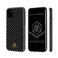 MONOCARBON Genuine Carbon Fiber Case for iPhone 11 Pro 5.8'' 11 6.1'' 11 Pro Max 6.5'' Non Slip Carbon Fibre Case