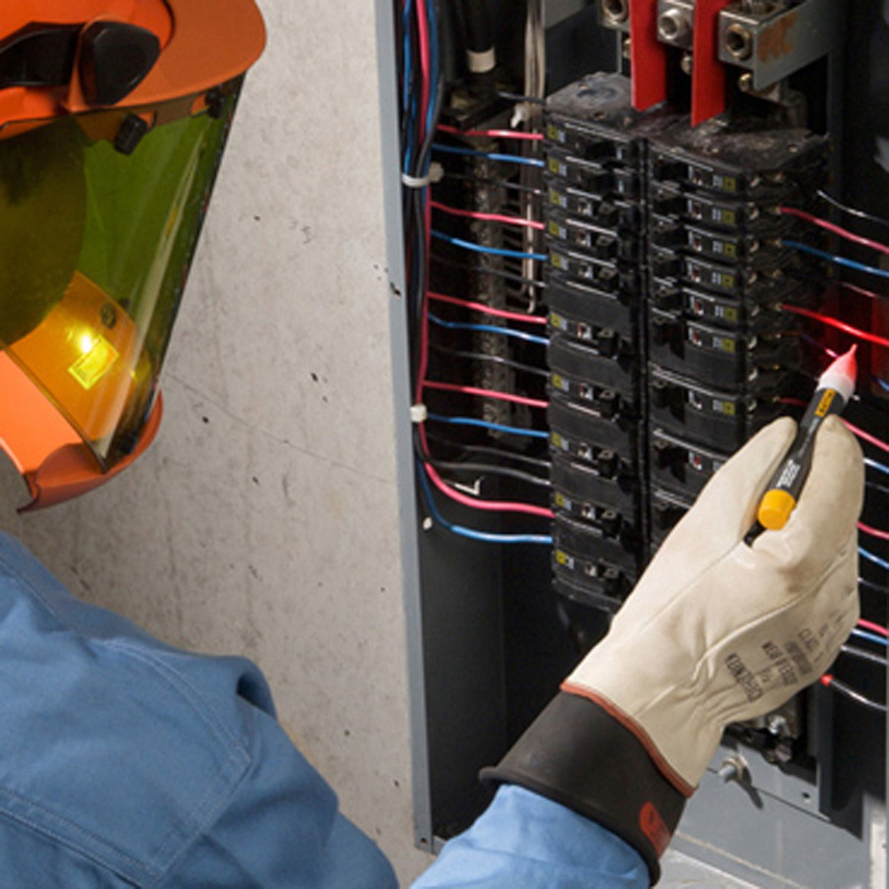 Hot Sale 1pc Socket Wall AC Power Outlet Voltage Detector Sensor Tester Pen LED light indicator 90-1000V free shipping