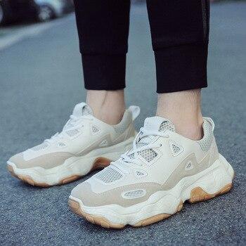 a45d0f55 Los hombres vulcanizar zapatos de zapatillas de deporte Hombre 2019 de moda  de verano de malla de aire planos transpirables zapatillas de deporte para  los ...