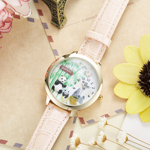 Women's Cute Panda Printed Wristwatches