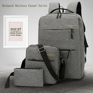 Anti-theft men's laptop backpack busines