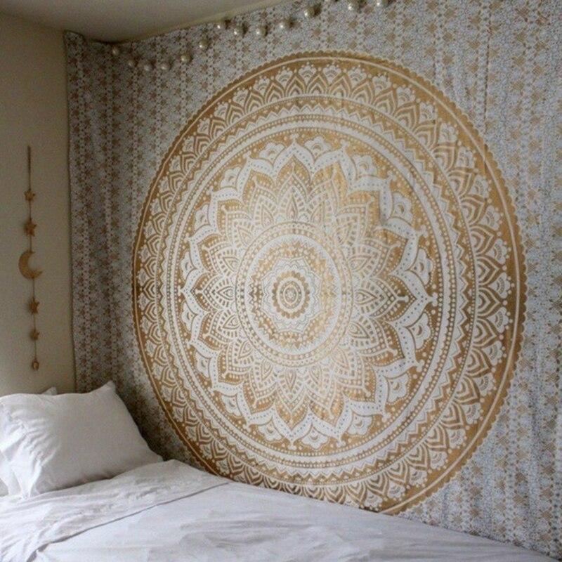 Bohemia Mandala Floral Carpet Wall Hanging Tapestry For