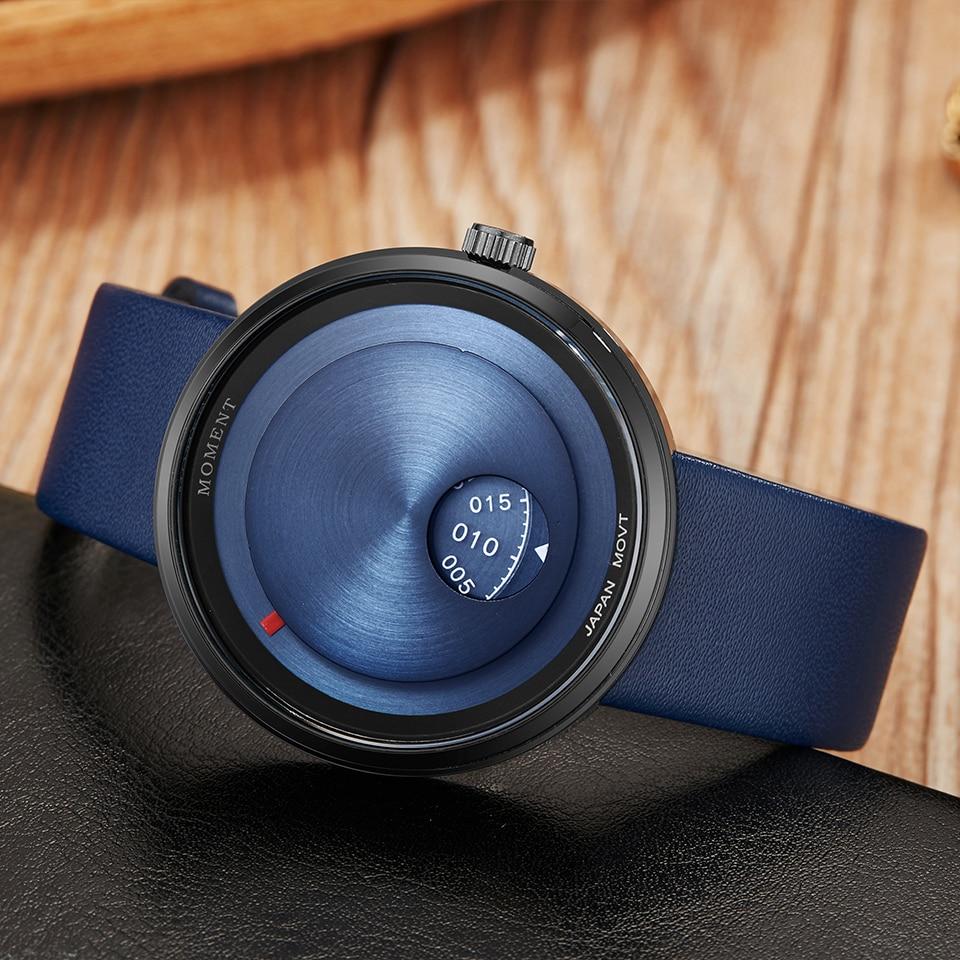 Turntable Watch Men Women Unique Couple Wrist Watches Lover Gift Clock Creative Dial Wristwatch Casual Male Female Quartz Clock