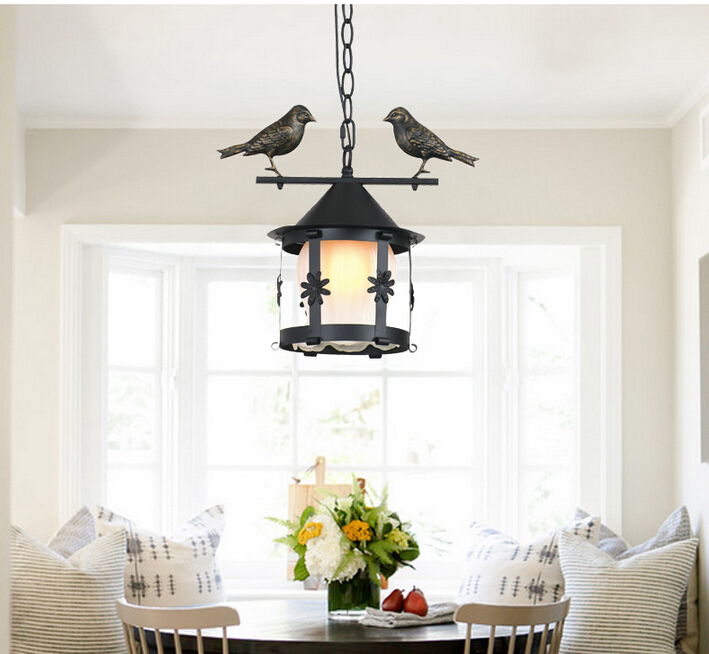 ФОТО Free Shipping Vintage  Pendant Lights Northern Europe Industrial Bird Lightings For Cafe & Bar Retro Edison Loft Pendant Lamps