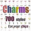 Más de 700 diseños encantos medallón flotantes encantos flotantes aleación encantos de la letra inicial