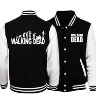 Men Women Unisex Hoodies 2017 Spring Autumn The Walking Dead Print Sweatshirt Fitness Baseball Jackets Fashion