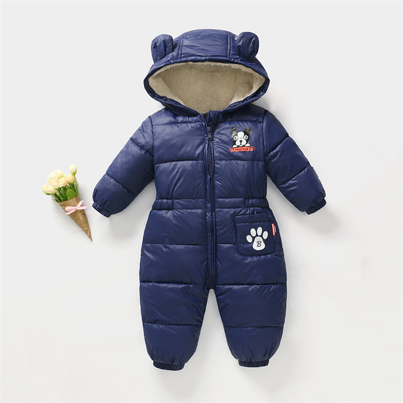 Children's Winter Jumpsuit Infant Snowsuit Baby Thick Down Fur Coat Newborn Snow Wear   Rompers   for Boy Girl Parka Costumes