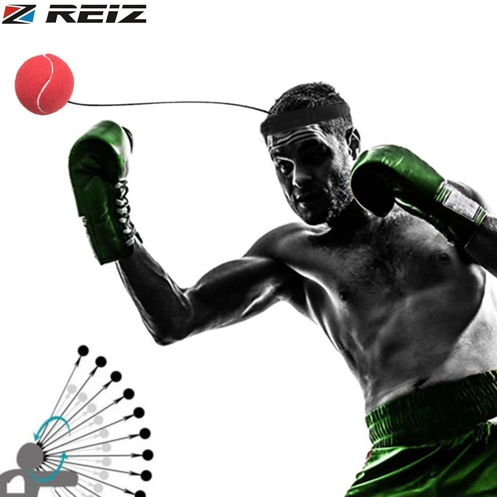 REIZ Boxing Ball Head Band Quick Response Speed Training Punching Muay Thai Sports Exercise Equipment Stress Relief <font><b>Fitness</b></font> Ball