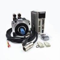 1.5KW AC Servo Bộ Dụng Cụ Cơ 1500 wát 5NM 2000 vòng/phút NEMA52 130 mét Công Nghiệp Servo Motor + Drive Kit AC220V JASD15002-20B + 130JASM5152K-20B