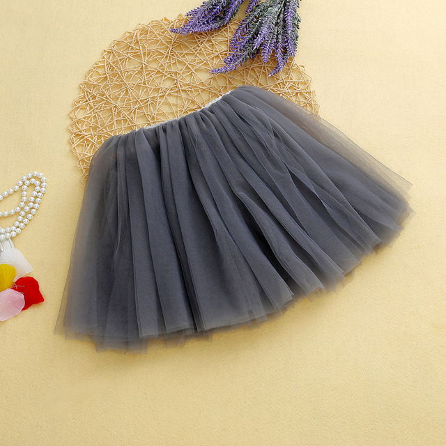 SheeCute Girls Skirts  New Arrival Kids Summer Candy Color Princess Shirts childrens veil skirts For 3-15Y  SCH3352