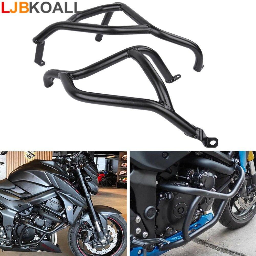 Motocicleta Dublê de Aço Gaiola Motor Bar Acidente Quadro GSX-S Guard Bumper Protetor para 2017-2018 Suzuki GSX 750 S 750 Preto