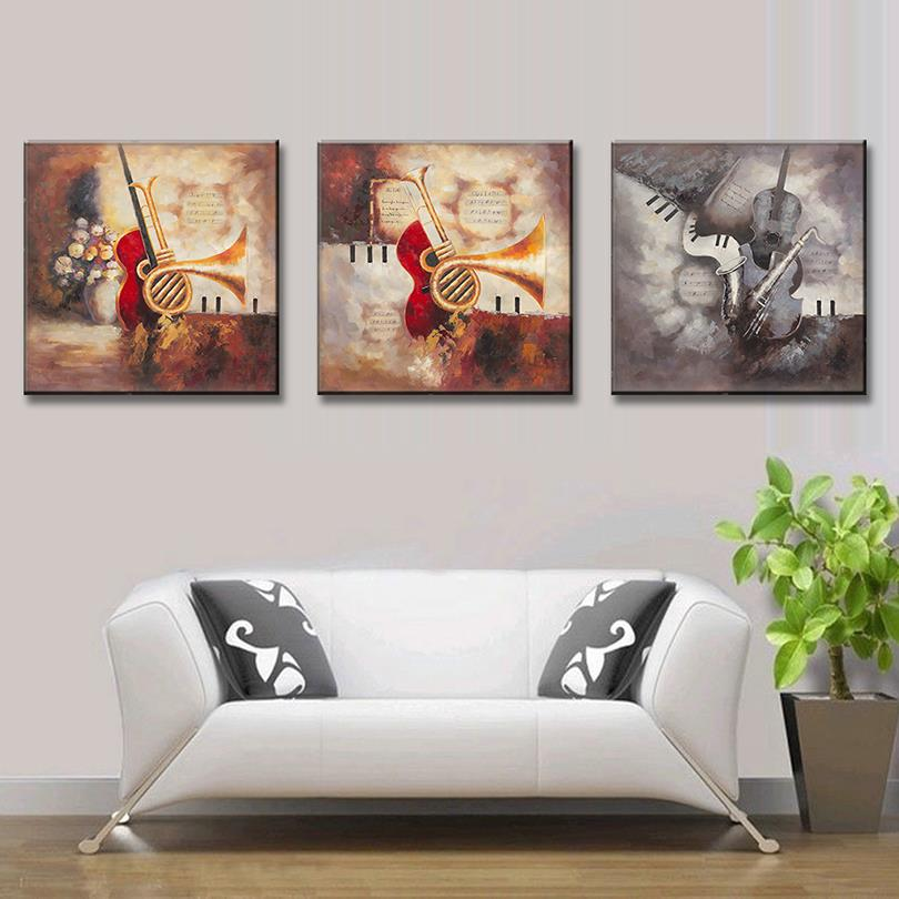 3 Pcs/Set Abstract Canvas Wall Art Picture Print European Oil Painting Wall Art Top Home Decoration QH0043
