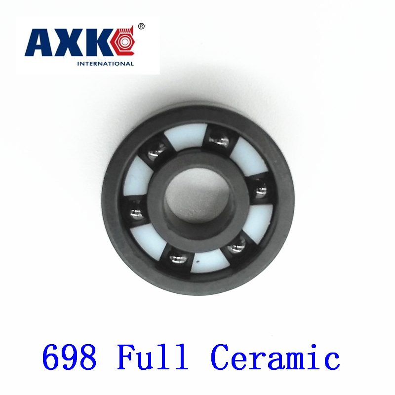 Axk 698 Full Ceramic Bearing ( 1 Pc ) 8*19*6 Mm Si3n4 Material 698ce All Silicon Nitride Ceramic 619/8 Ball Bearings 6901 si3n4 61901 si3n4 full ceramic bearing ball bearing 12 24 6 mm