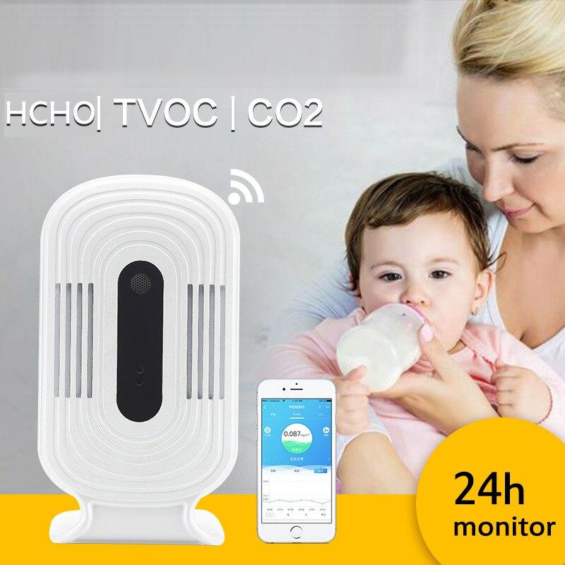JQ-300 numérique Wifi détecteur de gaz compteur testeur CO2 PM2.5 HCHO covt formaldéhyde qualité de l'air analyseurs moniteur capteur détecteur
