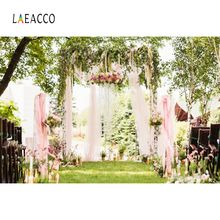 Wedding Flower Backgrounds Curtain Wreath Green Grass Spring Stage Bridal Outdoor Scenic Photography Backdrops For Photo Studio 10x10ft 3x3m scenic muslin backgrounds photography photo studio backdrops hand painted flower muslin backdrop wedding