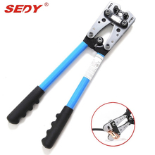 SEDY New 6 - 50 mm Crimp Tube Terminal Crimping Crimper Tool Battery Cable Lugs crimping tool cable terminal hand tool crimper(China)