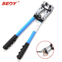 2016 New 6 50 Mm Crimp Tube Terminal Crimping Crimper Tool Battery Cable Lug