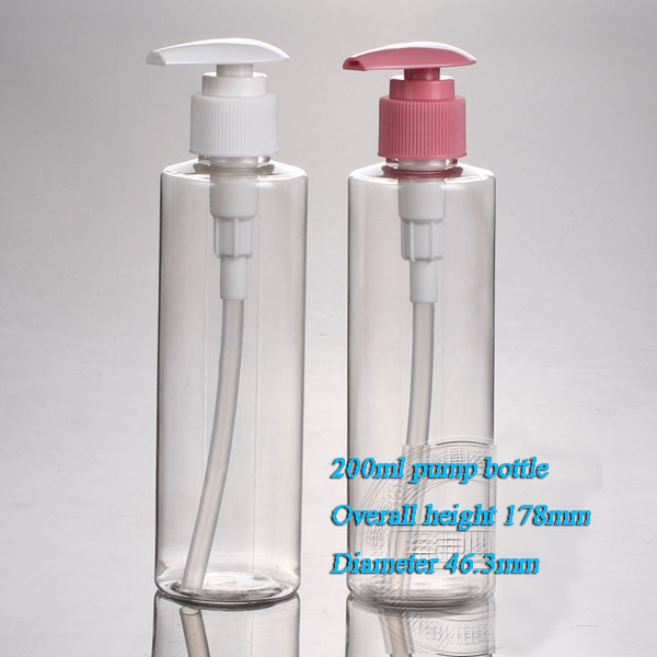 Refillable Bottles Capacity 200ml 20pcs/lot Heart Qualities Flat Shoulder Screw Pump For High-end Products Such As Latex Dress 2019 Official