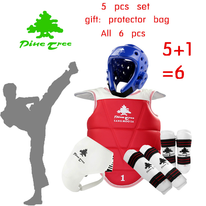 Free shipping Adult kids taekwondo thickening wtf taekwondo protection 5pcs taekwondo protector chest protector karate helmet free shipping wesing women karate chest guard female boxing chest protector approved wkf