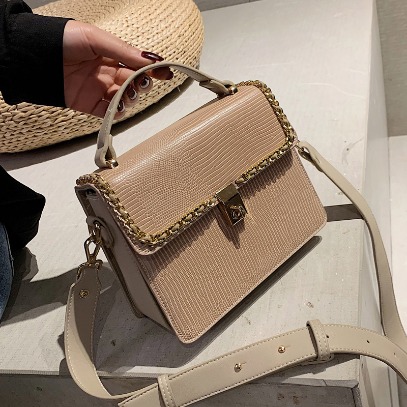 Vintage Fashion Female Tote bag 2019 New High Quality PU Leather Women's Designer Handbag Serpentine Lock Shoulder Messenger Bag 3