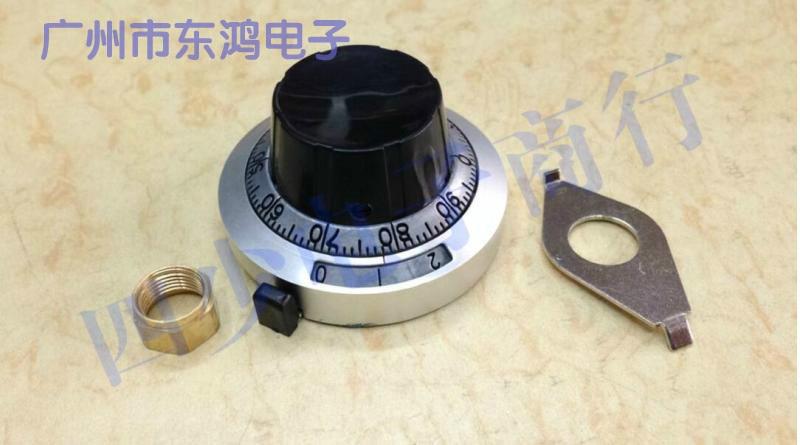 1pcs  TOPVR high grade metal knob dial indicator count matching multi turn potentiometer with switch lock 1pcs u s imports bi 7276 winding multi turn potentiometer switch r1k 2k 5k 10k 20k 50k 100k