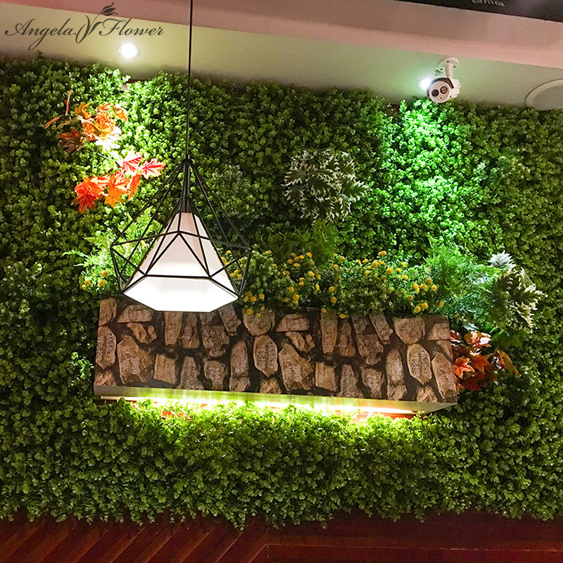 Diy artificial grass decorative eucalyptus plants flowers for Artificial grass indoor decoration