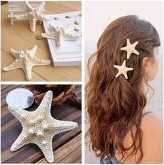 high top quality 2015 2014 Forest natural true starfish side clamp top clamp duckbill clip Bang hairpin