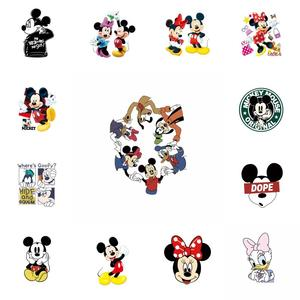 1Pcs Miceky Minnie Donald Thermal Iron On Patch DIY Applique Heat Vinyl Transfer For Clothes T shirt Stickers Washable(China)