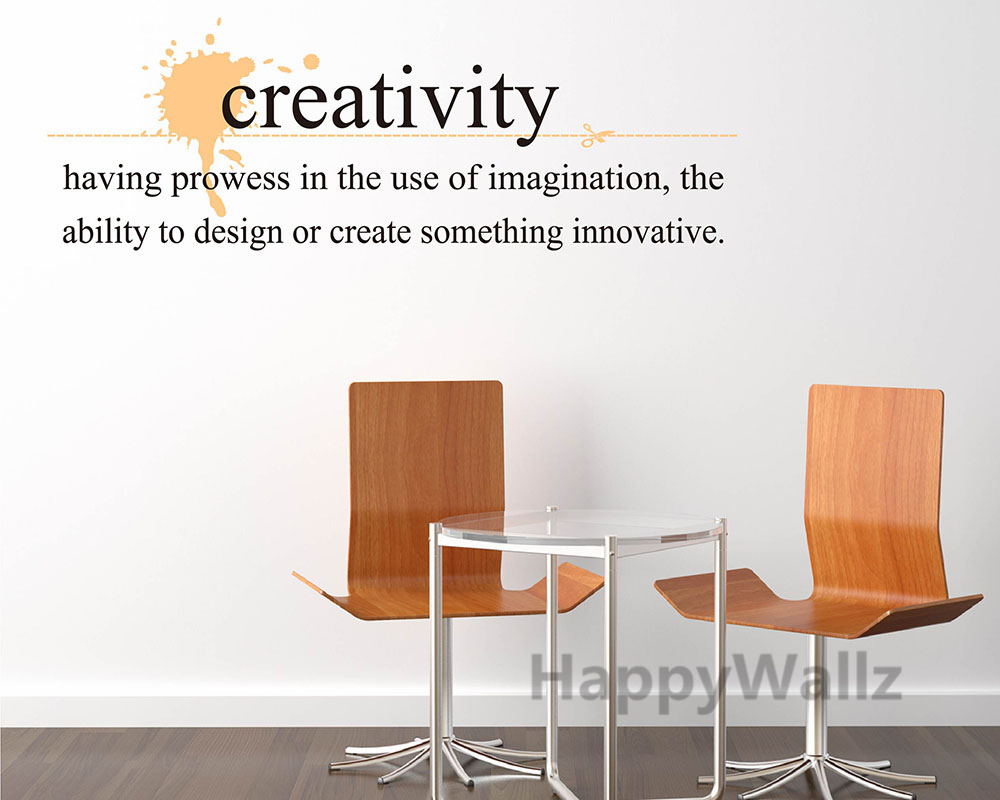 Creativity Motivational Quote Wall Sticker Inspirational Quote Wall Decal  DIY Vinyl Wall Quotes Lettering Hot Sale Q123