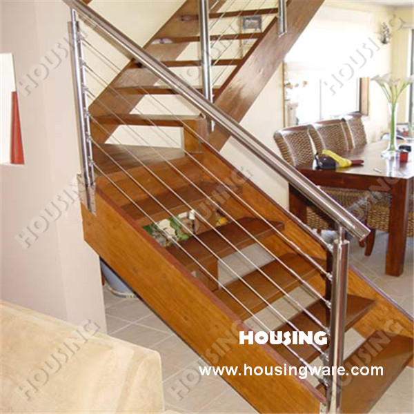 Stainless Steel Wire Railing For Stair Staircase Wire 3 Way Switch | Metal Wire Stair Railing | Handrail | Contemporary | Balcony | Steel Structure | Indoor
