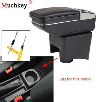 Car Accessories For Volkswagen VW Polo Vento 2010-2017 Car Armrest box central Console Arm Store content box cup holder ashtray