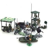 4 adet CS SWAT Polis Mini Askeri silah yapı taşları tuğla Set Ordu silah Yapı oyuncaklar çocuklar için