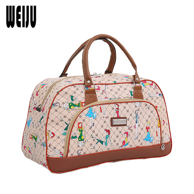 Size 46*27*21cm Summer Style Women Travel Bags 2017 High Quality Waterproof Female Handbag Duffle Luggage Bag OS-ME-031