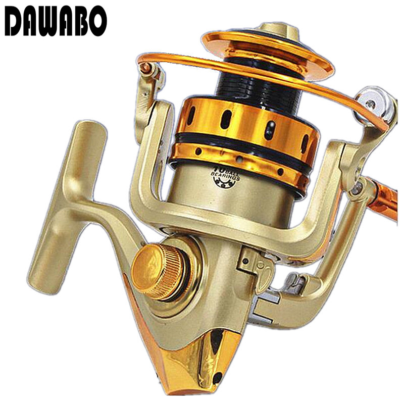 DAWABO Brand MR500-7000 type 10 axis Golden colour all metal rocker fishing rod reel spinning wheel fishing sea