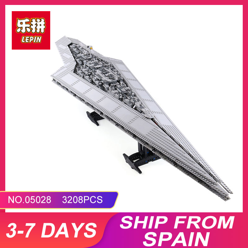 Nuevo LEPIN 05028 3208 Unids Toy Execytor Super Star Destroyer Modelo Building Kit Block Brick Compatible 10221 Boy Regalos WARS