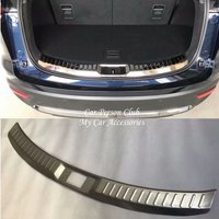 For Mazda CX9 CX 9 2016 2017 2018 Rear Guard Bumper Door Sill Plate Strips Cover Protector Trims Stainless Car Styling Accessory|Chromium Styling| |  -