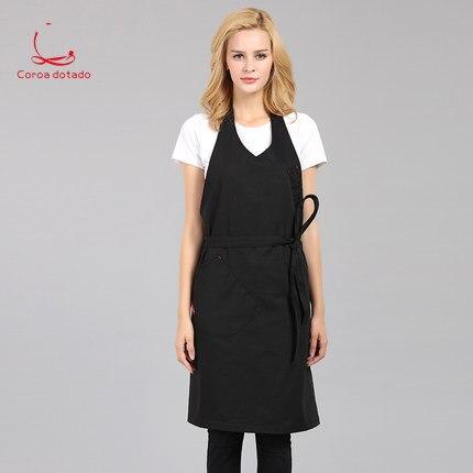 General custom cotton male barber kitchen restaurant coffee shop milk tea shop hanging neck in the long lengthened apron women