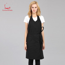 General custom cotton male barber kitchen restaurant coffee shop milk tea shop hanging neck in the long lengthened apron women