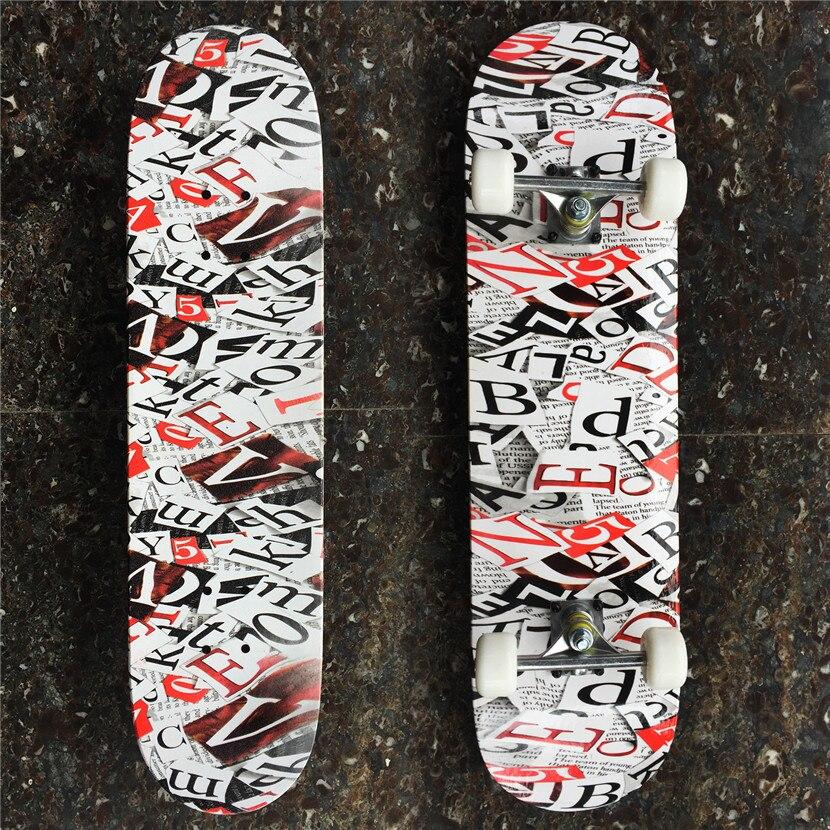 Дешевый NONE-PRO 31*8 дюймов скейт доска полный комплект колода с колеса грузовика и подшипники для детей или Скейтер начинающих Бесплатная дост...