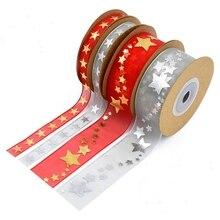 Лучший!  Рождественская елка Печатный Примечание Пятиконечная Звезда Лента Для Украшения Свадьбы DIY
