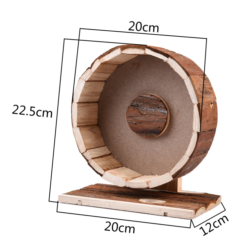 Cute Wooden Chew Toys runner Exercise Wheel for small Pets hamster squirrel Guinea pig Chinchilla Fragile goods hamster toys