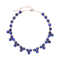 Blue Round Beads Necklace Perfume Women Online Shopping India Vintage Collar Necklace Statement Accessories