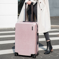 20''24'' Zipper Rolling Luggage Spinner Suitcase Wheels Zipper Glittering Luggage Surface Women Oxford Travel Trolley Cabine