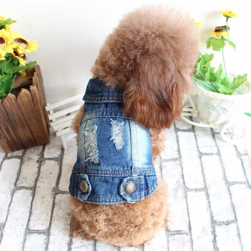 2019 Одежда для собак пальто для собак и кошек джинсы весна и осень для маленьких собак французский для бульдога Чихуахуа Йоркширский джинсовые куртки пальто xs-xl